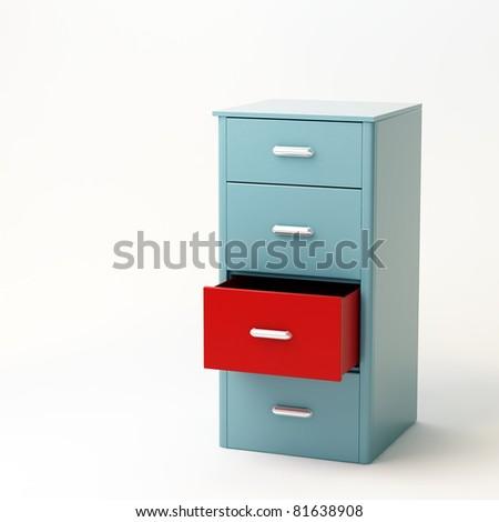 file cabinet - stock photo