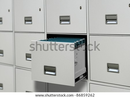 File cabinet - stock photo