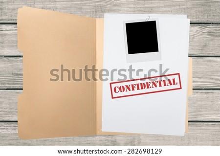 File, Confidential, Secrecy. - stock photo