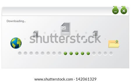 File download progress indicator window design on white background