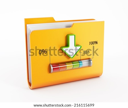 File downloading concept with indicator. - stock photo