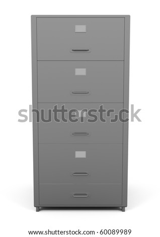 File Drawer isolated on white - 3d illustration - stock photo