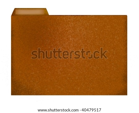 file folder (can add text to label) - stock photo