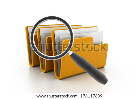 File folder search - stock photo