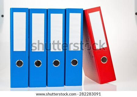 file folder with documents and documents. storage contracts. - stock photo