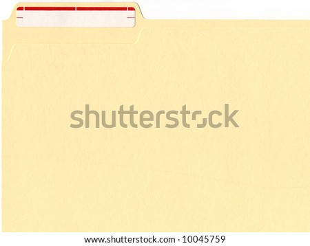 file folder with label - stock photo