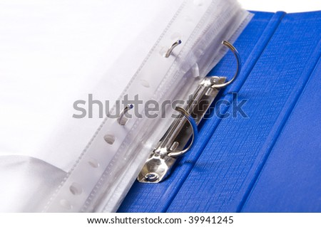 file folder with paper - stock photo