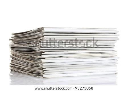 File folders on white background - stock photo