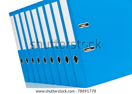 File folders with documents and papers. Retention of contracts. - stock photo