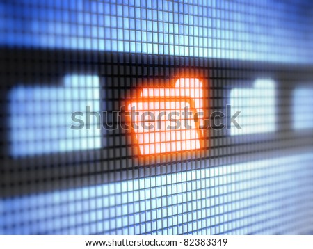 file  Full collection of icons like that is in my portfolio - stock photo