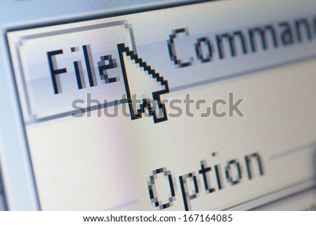 file icon being selected cloud computing concept