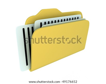 file icon isolated (done in 3d) - stock photo