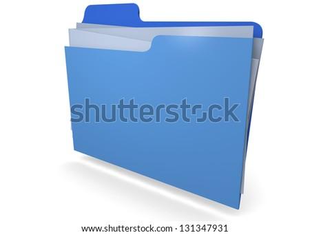 FILE IN FOLDER - 3D - stock photo