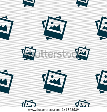 File JPG icon sign. Seamless pattern with geometric texture. illustration - stock photo