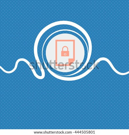 File locked icon sign. Blue and white abstract background flecked with space for text and your design. illustration - stock photo