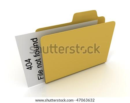 File 404 not found.Error. 3D - stock photo