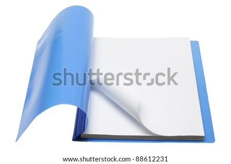 File on White Background - stock photo
