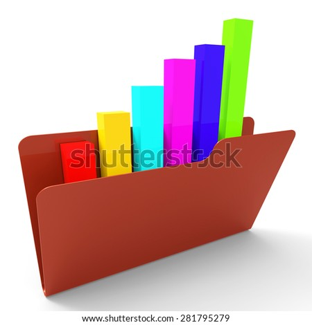 File Report Meaning Business Graph And Organize