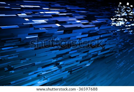 File Transfer Moving Data Over the Internet - stock photo