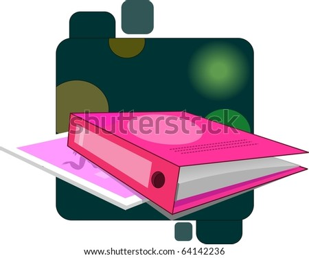 File with green colour background - stock photo