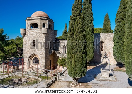 Filerimos Monastery in Ialysos, Rhodes