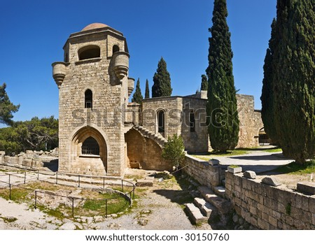 Filerimos monastery, Rhodes island, Greece