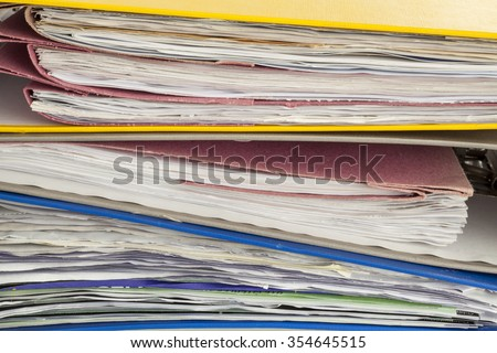Files and document close up - stock photo