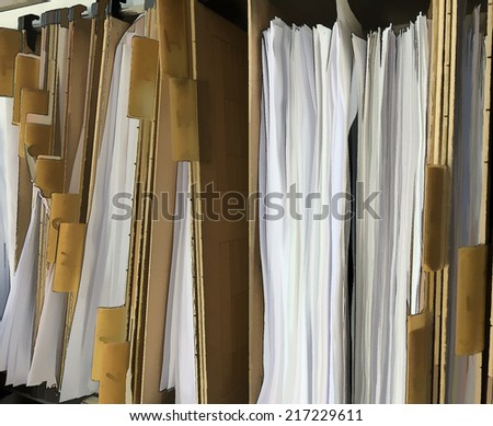 Files and drawers. Illustration. - stock photo