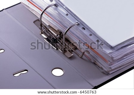 files clipping in file binder - stock photo