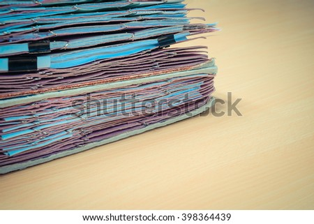 Files in old folder stacking up in a messy order.