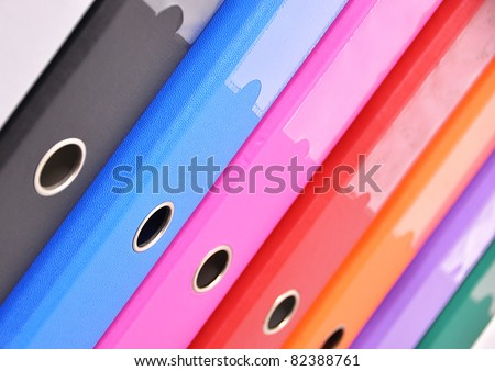 Files on the shelf - stock photo