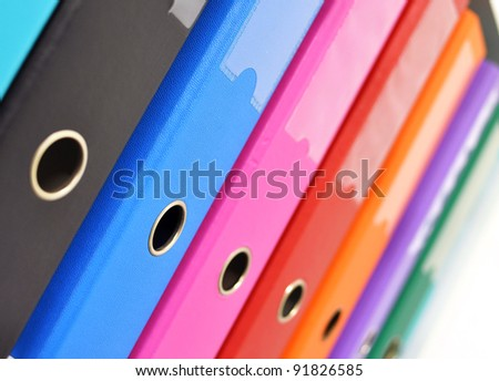 Files on the shelf - stock photo