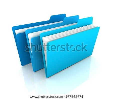 files or folders - stock photo