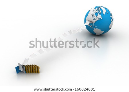 Files transferring - stock photo