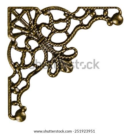 Filigree, decorative element for manual work, isolated on white background - stock photo