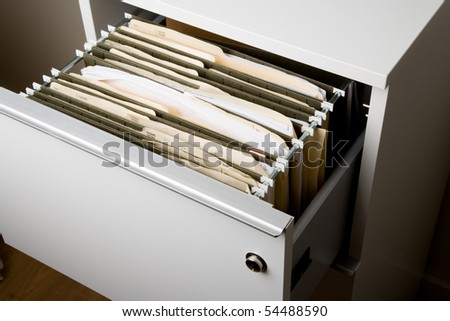 Filing Cabinet close up shot - stock photo