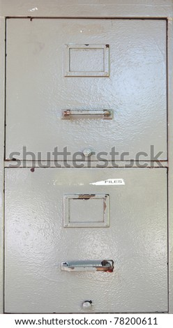 filing cabinet drawers - stock photo
