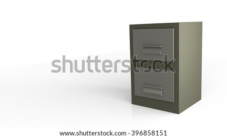 Filing Cabinet in 3D illustration