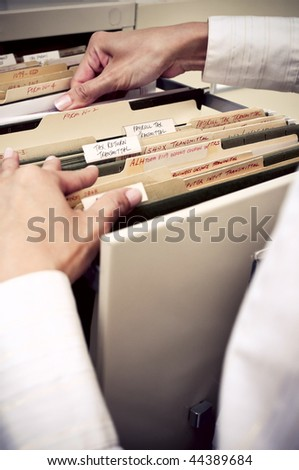 Filing in the Office - stock photo