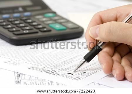 Filing taxes - stock photo