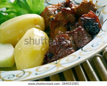 Afritada Manok Philippines Spanish Homestyle Dish Stock ...