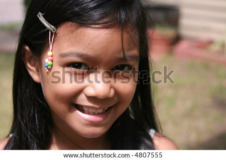 Filipino Girl - stock photo