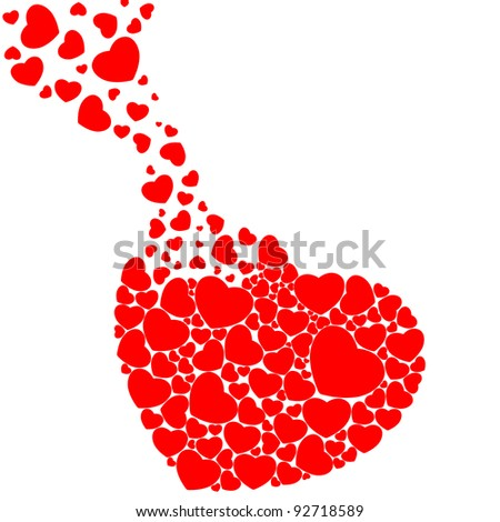 Fill heart with heart - stock photo