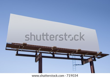 Fill in this blank billboard with your own message. - stock photo