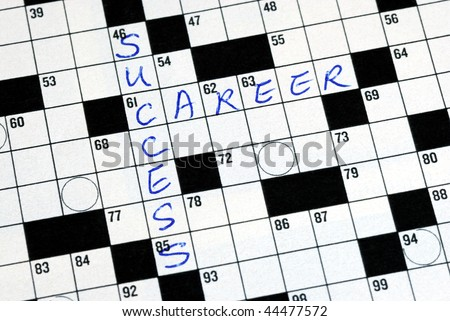 Fill the words Success Career in the cross word puzzle - stock photo