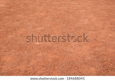 Filled with dust dirt road in the countryside - stock photo