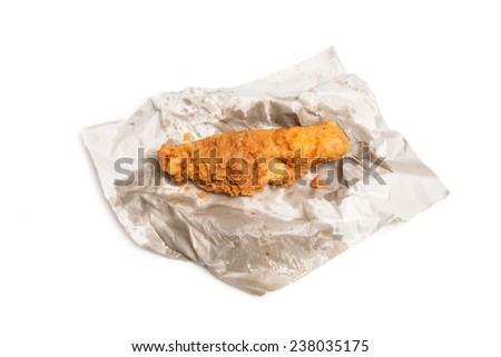 fillet of battered deep fried cod fresh from the fish and chip shop. - stock photo