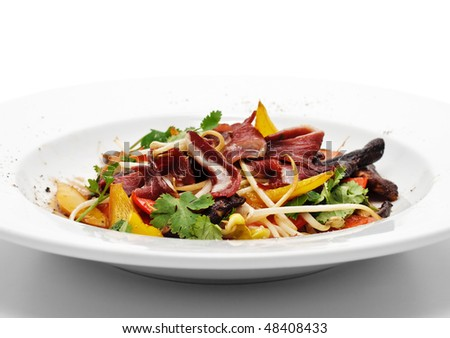 Fillet of Duck Breast with Vegetables - stock photo