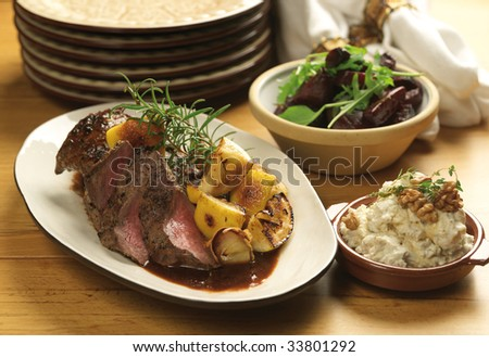 Fillet of lamb - stock photo