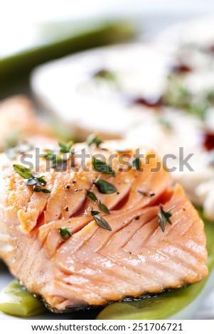 Fillet of Salmon. - stock photo